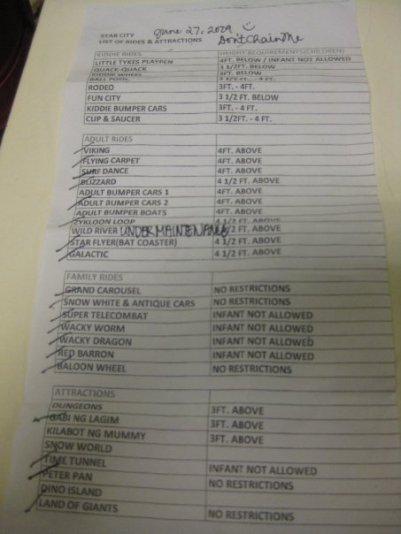 Our checklist