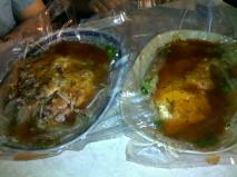 Oyster cake and shrimp cake