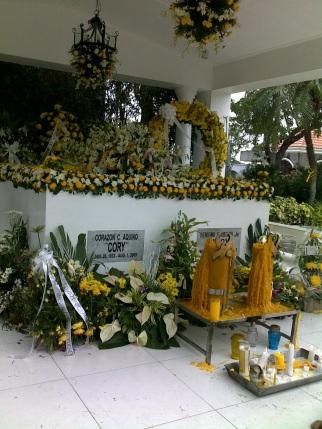 Ninoy and Cory's graves
