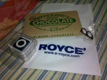iPod shuffle from WYA, Royce chocolate from Hive, ring from Sleg :)