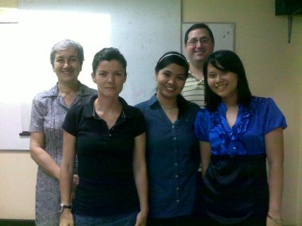 Jad and I with our thesis panelists and adviser :)