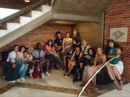 Group picture at the Museo de la ciudad -- From Giulia