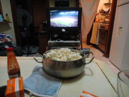About to watch the football game