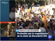 Protesters at Tirso de Molina