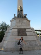 In front of Rizal's monument