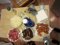 Jamón ibérico, Queso, Carne de cerdo, Muslitas del mar