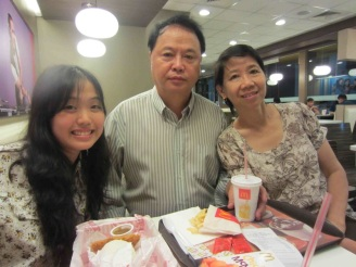 with my family at McDo