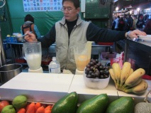The famous shake store in Liu He night market 六合夜市