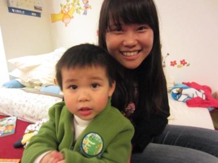 With Riley, Merry's nephew